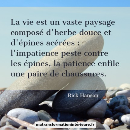 Citation Patience Impatience Ma Transformation Interieure
