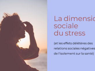 dimension sociale stress